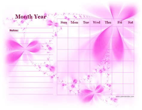 monthly blank calendar  purple shade  printable