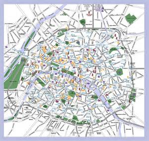 Paris Tourist Attractions Map