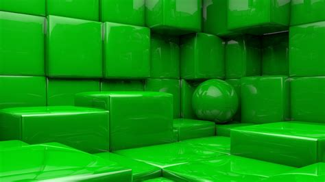 3D Green Cubes HD Abstract Wallpapers | HD Wallpapers | ID ...