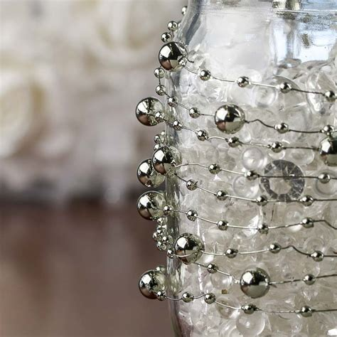 silver pearl wire garland what s new craft supplies