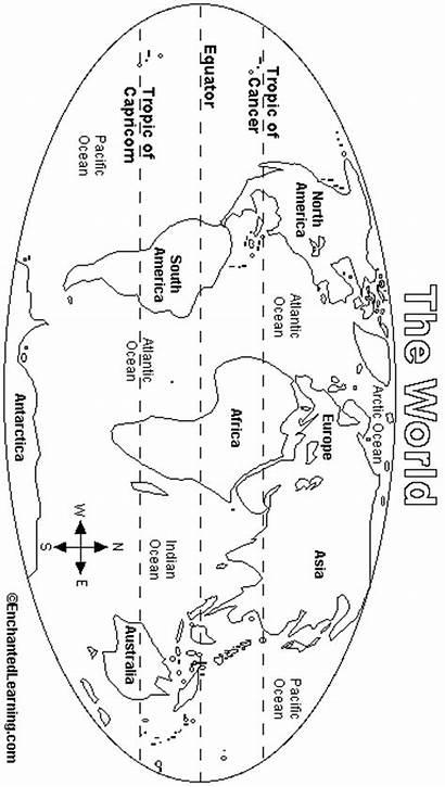 Enchantedlearning Map Printout Geography Enchanted Learning Equator