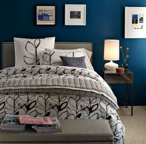 wall color for blue bedding simple floral bedding set with solid blue wall paint