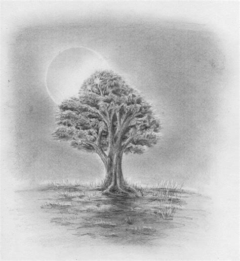 /de tag wie man einen Winterbaum zu zeichnen