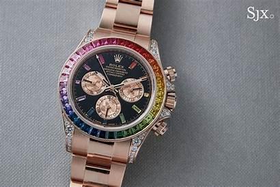 Rolex Iced Daytona Wallpapers Rainbow Close Wallpaperaccess