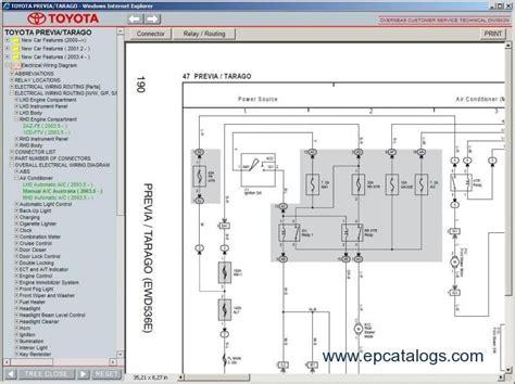 Toyota Previa Tarago Repair Manual Download