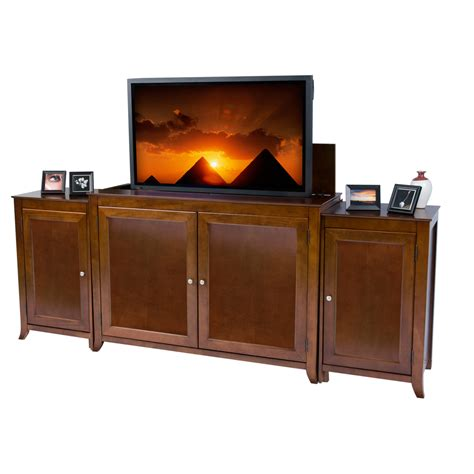 tv lift cabinets for flat screens berkeley cherry tv lift cabinet with sides for flat screen