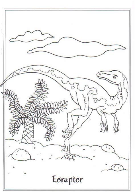 coloring page dinosaurs  eoraptor dinosaurs