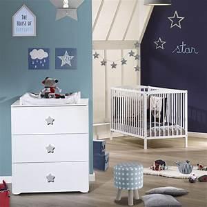 Chambre Bebe Etoile : chambre b b duo basic lit barreaux 60x120cm blanc ~ Teatrodelosmanantiales.com Idées de Décoration