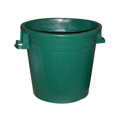 cuisine ideale poubelle d 39 extérieur sans couvercle 50 l vert 60557