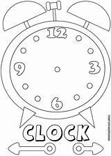 Clock Coloring Colorings Clock3 sketch template