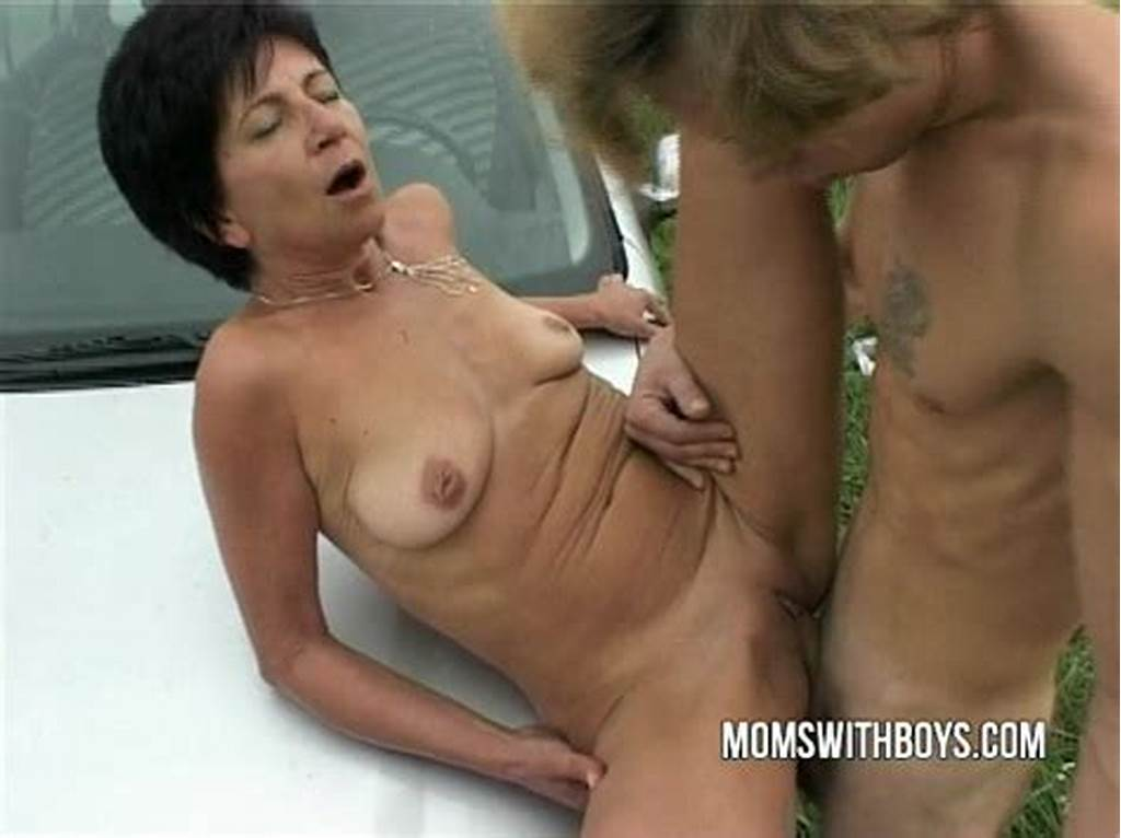 #Shaved #Mature #Mom #Rides #Boys #Hard #Cock #In #The #Field