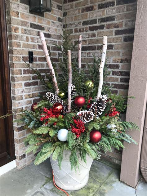 weihnachtsdeko im außenbereich weihnachtsdeko v 225 noce au 223 endeko weihnachten rustikale weihnachten und deko hauseingang