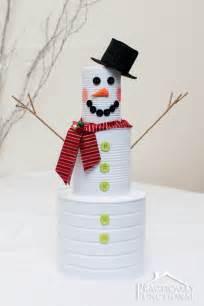 diy craft tin can snowman