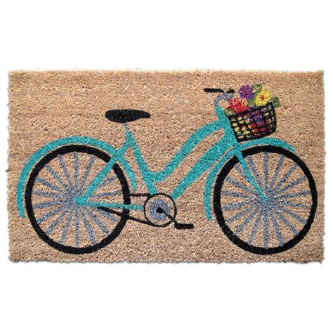 Teal Doormat by Teal Floral Bicycle Doormat Everything