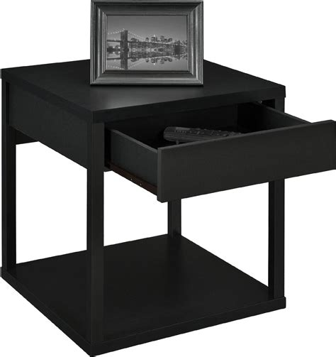 black side table with drawer leick chairside l table with drawer antique black