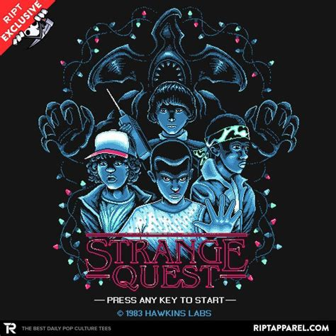 stranger things fan shirt strange quest 1983 stranger things t shirt the shirt list