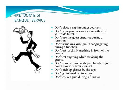 page  banquet server training dining server