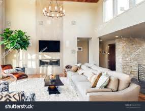 beautiful livingrooms beautiful living room hardwood floors tv stock photo 262437152