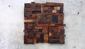 Bois Flotté Décoration Murale : d coration murale composition abstraite en vieux bois ~ Melissatoandfro.com Idées de Décoration