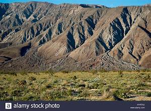 Three Alluvial Fans That Meet At The Bottom Of A Mountain