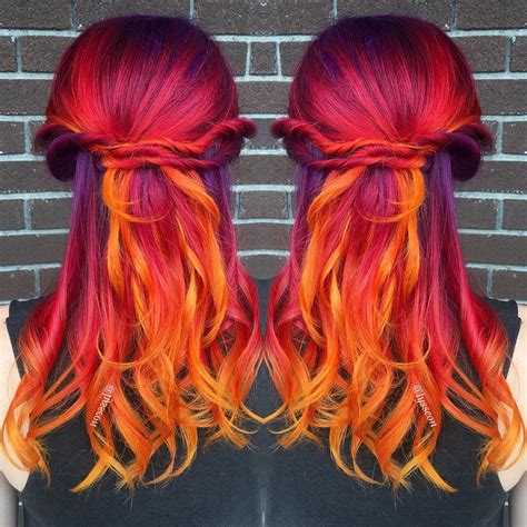 Fiery Sunset Hair By Lysseon I See Your True Colors