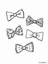 Bows Pages Coloring Printable Recommended sketch template