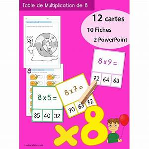 Table De 8 : quiz interactif cartes fiches table de multiplication de 8 ~ Dallasstarsshop.com Idées de Décoration