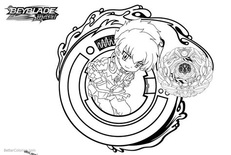 Beyblade Burst Coloring Pages Beyblade With Butterfly And