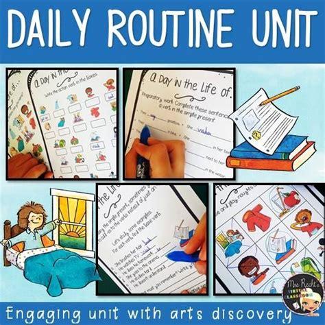 creative daily routine english lesson plan