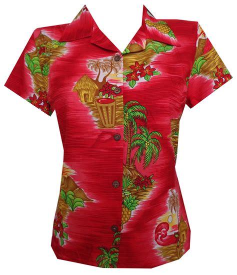 hawaiian print blouses hawaiian shirts scenic flower print aloha