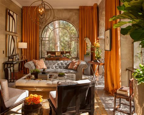 orange curtains home design ideas pictures remodel  decor