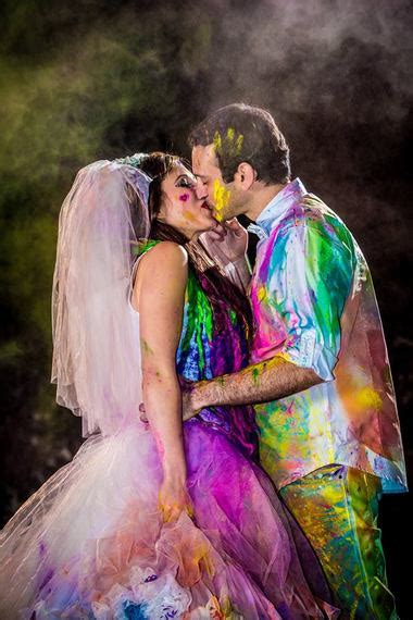 unique ways  add color   wedding dress huffpost