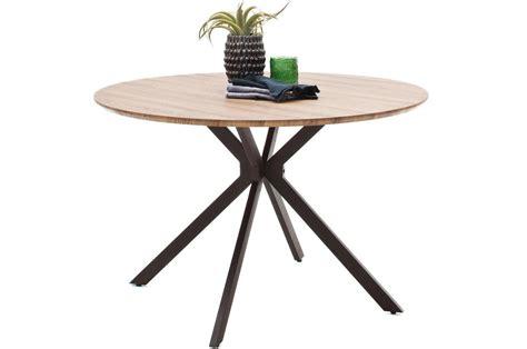 table a manger ronde table ronde en bois de salle 224 manger style industriel