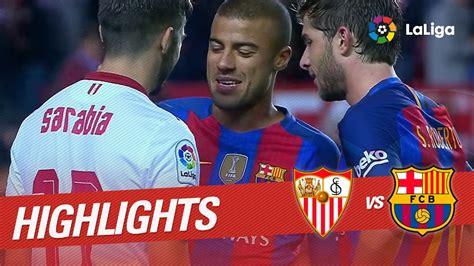 Resumen de Sevilla FC vs FC Barcelona (1-2) - YouTube
