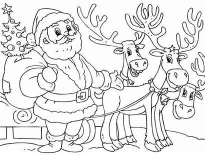 Santa Coloring Printable Everfreecoloring