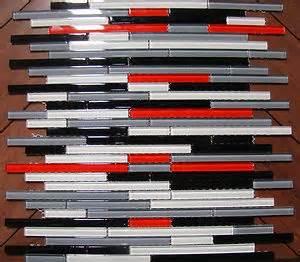 details about quot autostrata quot mosaic glass tile red grey