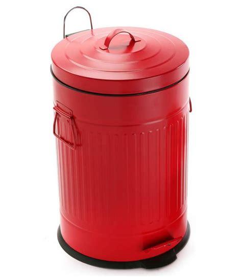 poubelle de cuisine rétro en métal blanc 30l wadiga com