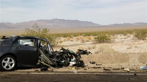 Boating Accident Needles Ca by Four Killed In Head On Collision Between Passenger Car And