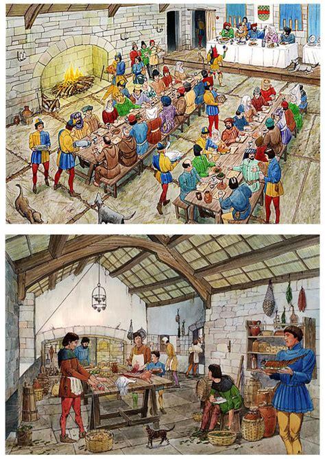 cuisine du moyen age image château salle des banquets et cuisine du moyen age