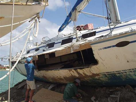 Fiberglass Boat Repair Large Hole by How To Repair Big Holes In Grp Boats Practical Boat Owner
