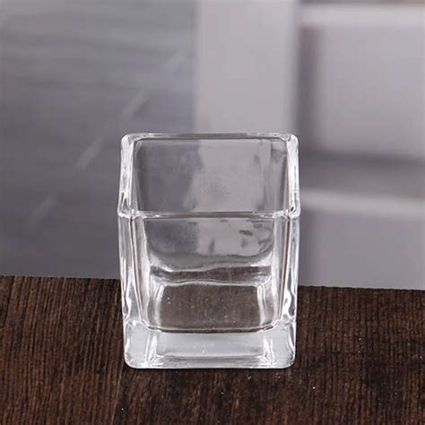 square candle holders clear square glass candle holders navy blue square votive