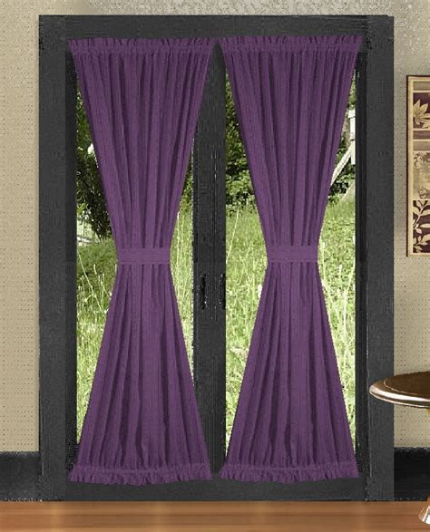black and white bedskirt solid purple colored door curtain available in