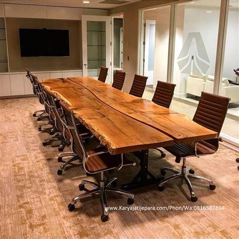 meja meeting kayu jati slid ii mempunyai kontruksi