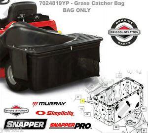 snapper rear engine rider grass catcher bag single bag grass collection system 691045114489 ebay
