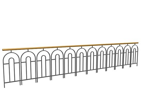 Deck Baluster Spacing Template by Metal Deck Railing Design 3d Model 3dsmax 3ds Files Free