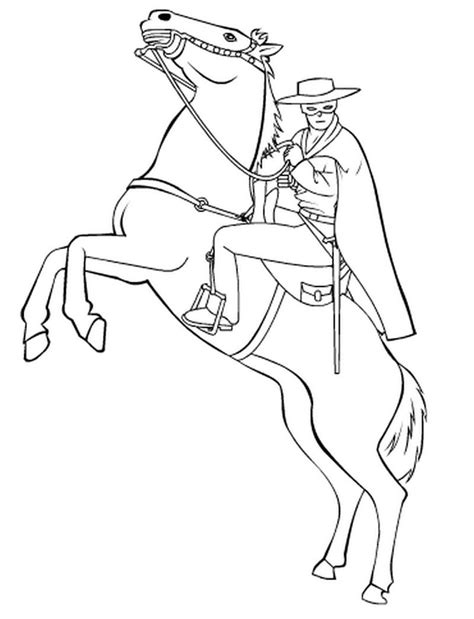 zorro coloring pages learny kids