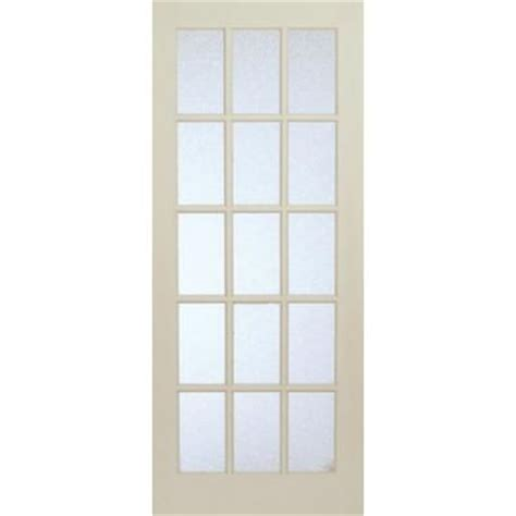 interior glass doors home depot milette interior 15 lite french door primed with martele privacy glass 32 inches x 80 inches