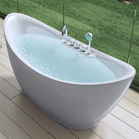 badewanne armatur freistehend design badewanne freistehende wanne standbadewanne armatur 180 x 80 vicenza603 ebay