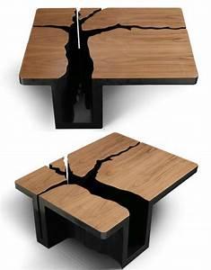 Table Basse Bois Pas Cher : la table basse design en mille et une photos avec beaucoup ~ Carolinahurricanesstore.com Idées de Décoration