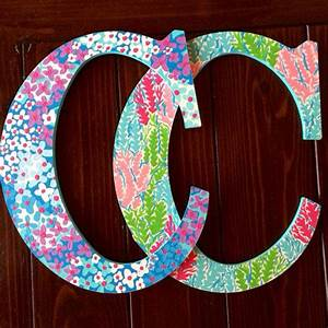 hand painted lilly pulitzer wooden letter from With lilly pulitzer wooden letters